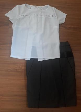 Белая блуза в школу