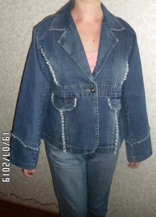 Джинсовый пиджак, размер 48-50, новый
