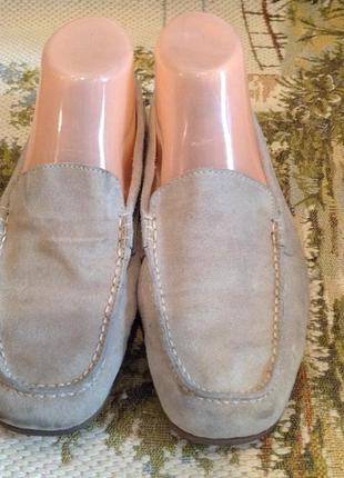 Туфли замшевые на низком каблуке, бренда footglove, р. 39.