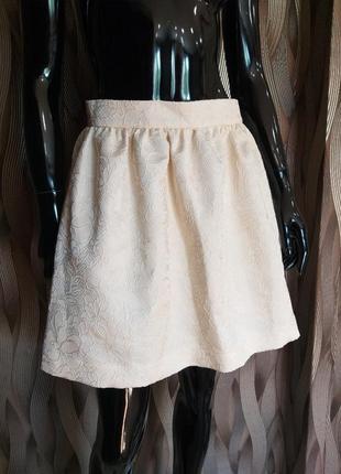 Распродажа летнего новая юбка фактурная ткань uk 10 m наш 44