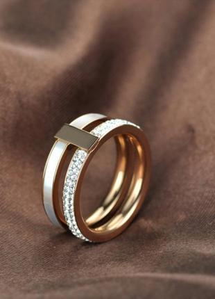 Кольцо нержавеющая сталь титан колечко белое