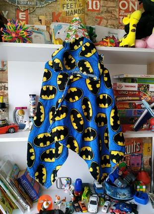 Пончо накидка полотенце batman с ушками на 12-24 мес