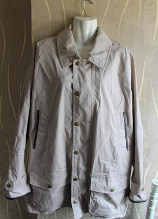 Стильная водонепроницаймая куртка плащь бежевого цвета royal jacket (mwb0359st31)