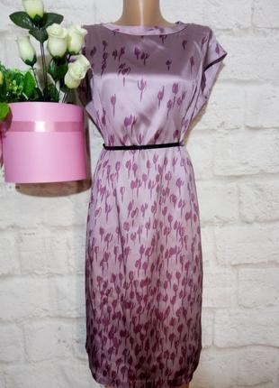 Платье миди нарядное прямого силуэта р 14 италия