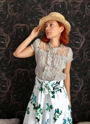 Блузка шёлковая в викторианском стиле