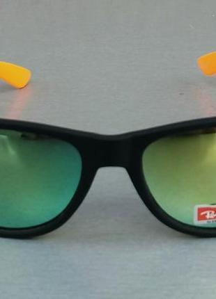 Ray ban wayfarer очки унисекс солнцезащитные с оранжевыми дужками зеркальные