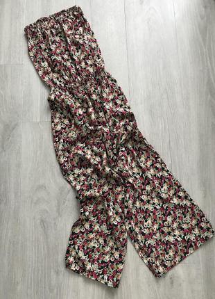 Ромпер комбинезон с длинными штанами с цветами