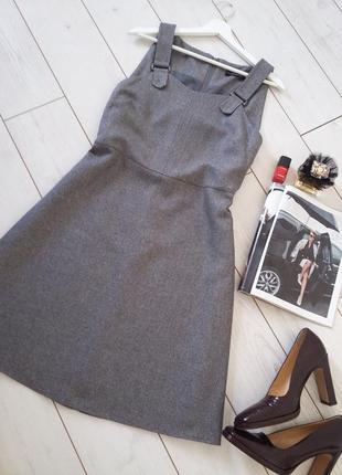 Базовый лаконичный сарафан/платье миди для деловой женщины..# 193