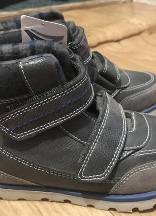 Детские кожаные демисезонные ботинки