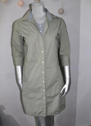 Платье рубашка хаки artigiano asoni