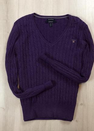 Женский пуловер gant гант кофта вязаный джемпер свитер