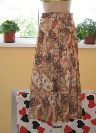 Красивая летняя длинная  юбка