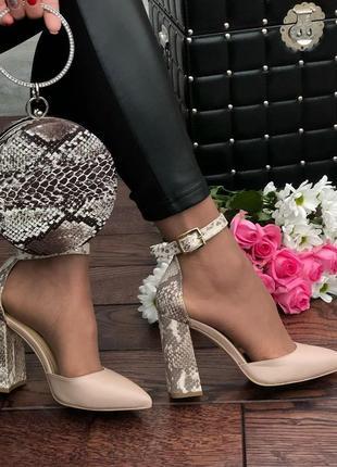 Туфли с закрытой пяткой,  tucino натуральная кожа лето 2019