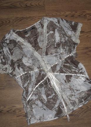 Невесомая блуза блузка рубашка летняя без рукавов
