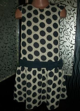 Тёплое платье,сарафан на 8-9 лет nutmeg натмег