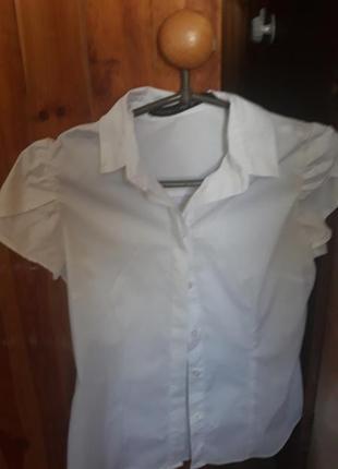 Школьная белая блузка для девочки, 36 р