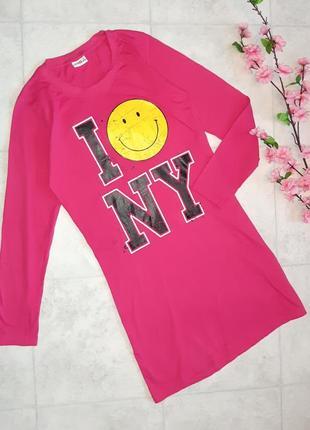 1+1=3 стильное яркое платье миди смайлик smily, размер 42 - 44