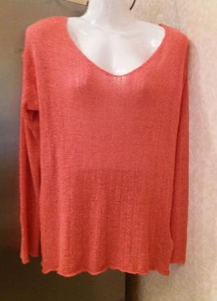 Яркий свитшот оверсайз свитер с открытой спинкой -бренд-divided--м\l