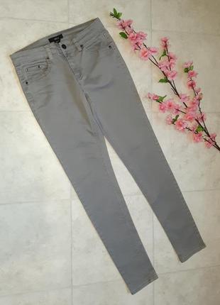 1+1=3 фирменные кофейно-серые узкие джинсы скинни ellos, размер 44 - 46