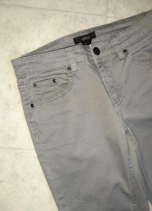 1+1=3 фирменные кофейно-серые узкие джинсы скинни ellos, размер 44 - 468 фото