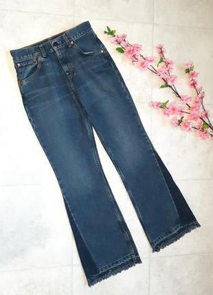 1+1=3 крутые плотные джинсы клёш кюлоты levis оригинал, необработаный низ, размер 42 - 44
