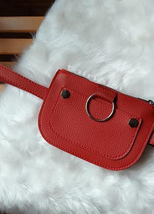 10 расцветок поясная сумка красная сумочка на пояс клатч с кольцом2 фото