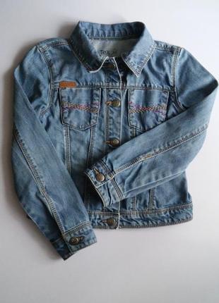 Джинсовый пиджак tex, франция, р. 5-6 л.