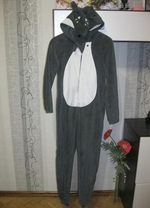 Кигуруми креативный волк волчица пижама комбинезон м рост до 176 см