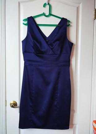 Темно-синее вечернее платье с отливом