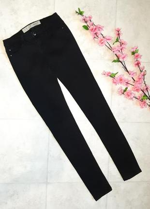 1+1=3 фирменные узкие черные джинсы скинни denim co оригинал, размер 40 - 42
