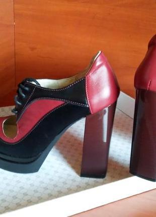 Туфли-ботильоны кожаные