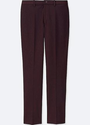Легкие стрейчевые мужские штаны uniqlo ezy dry-ex ankle-length