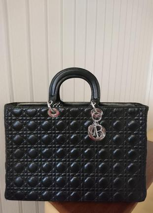 Кожанная сумка christian dior