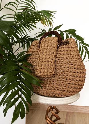 Стильна плетена сумка