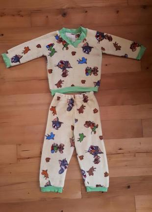 Флисовая пижама для малышки