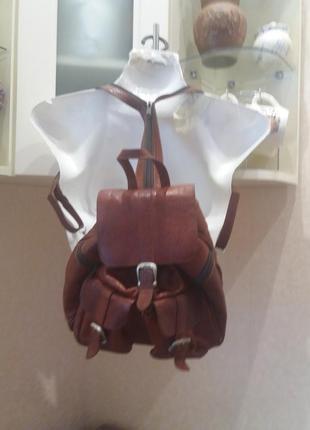 Рыжий. городской рюкзак  .  кожа4 фото