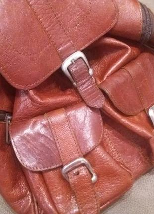 Рыжий. городской рюкзак  .  кожа7 фото