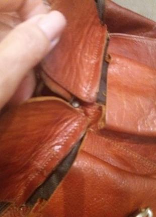 Рыжий. городской рюкзак  .  кожа9 фото