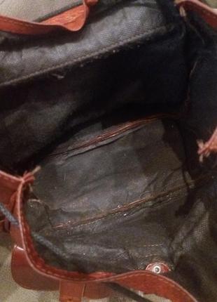 Рыжий. городской рюкзак  .  кожа10 фото