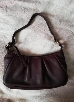 Натуральная кожаная сумка clarks