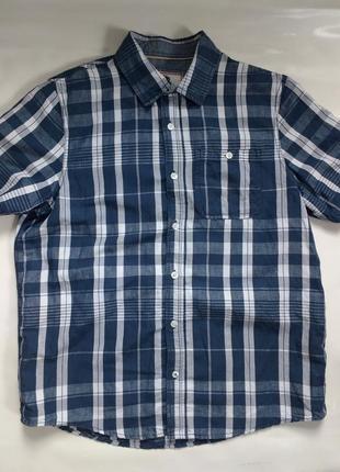 Льняная  рубашка на короткий рукав льняна сорочка на короткий рукав fat face