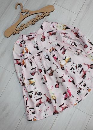 Легкое платье с рукавом на 12-18 мес next