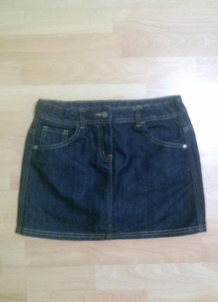 Фирменная джинсовая юбка 13-14 лет
