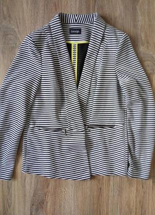 Стильный пиджак в полосочку george