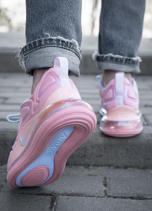 Шикарные женские кроссовки nike air max 720 розовые2 фото