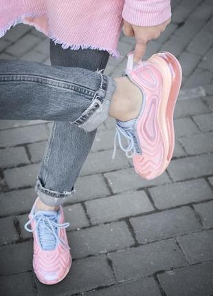Шикарные женские кроссовки nike air max 720 розовые3 фото