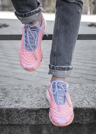 Шикарные женские кроссовки nike air max 720 розовые4 фото