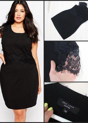 New look.шикарное черное платье.