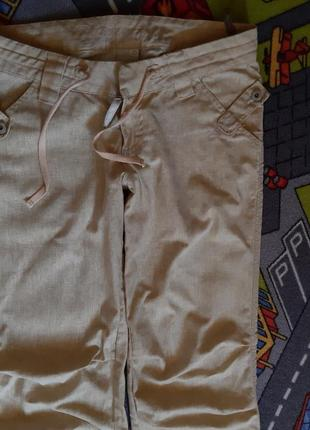 Очень крутые льняные брюки3 фото
