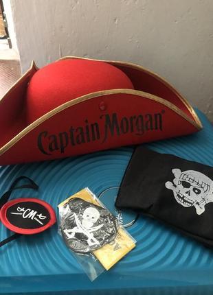 Набор пирата (шляпа, бандана и 2 наглазника)